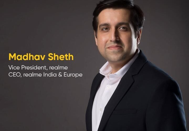 A smiling pic of Madhav Seth, Realme Indian president